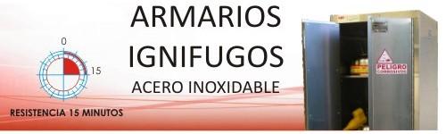 Armarios Ignífugos p/ Laboratorios Acero Inoxidable